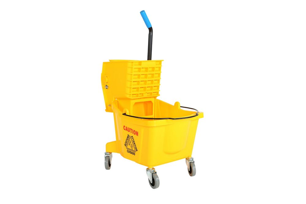 26 Qt. Sidepress Bucket and Wringer Yellow