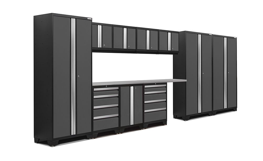 Bold 3.0 Storage Cabinets in Grey (12-Piece Set)