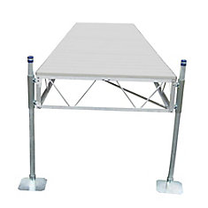 16 ft. Straight Dock with Gray Aluminum Decking