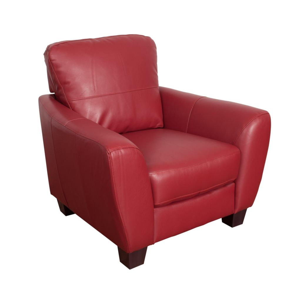 Corliving Jazz Red Bonded Leather Chair