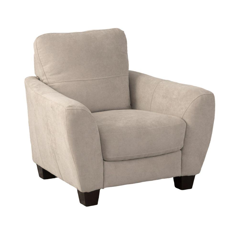 Jazz Beige Chenille Fabric Armchair