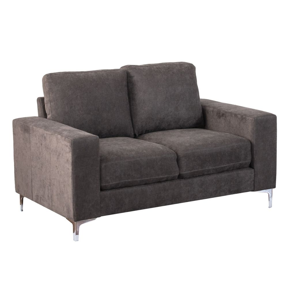 Corliving Cory Grey Chenille Fabric Loveseat