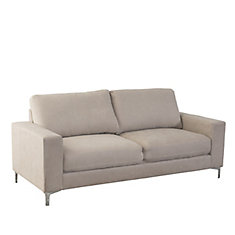 Sofa Cory en tissu chenille beige