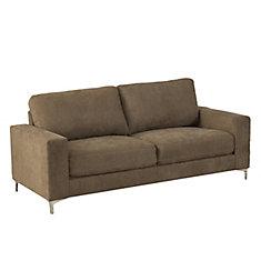 Sofa Cory en tissu chenille brun