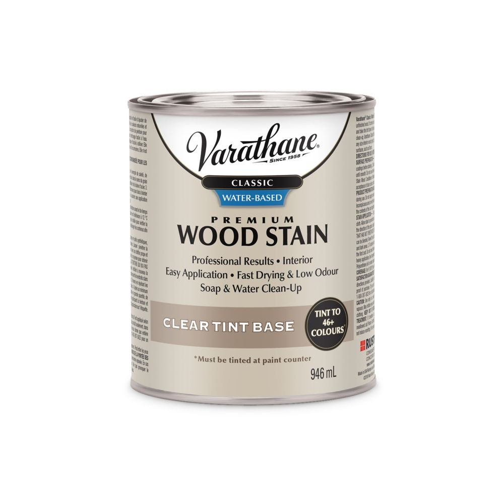 Varathane Water Based Wood Stain Tint Base Clear 946ml