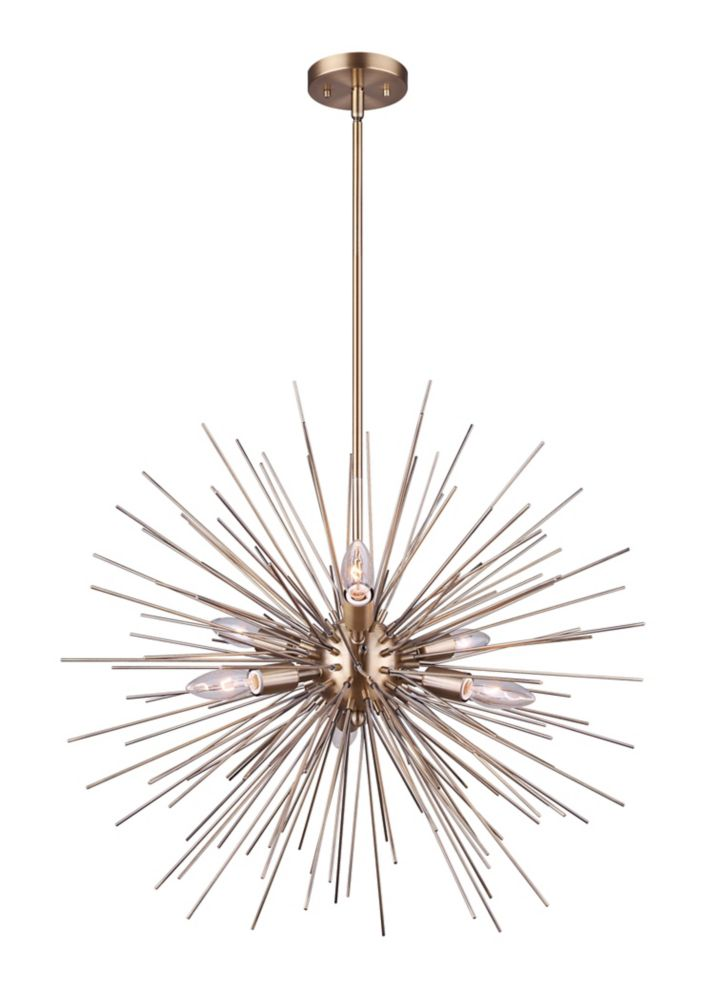 Canarm ORLA 6-light gold chandelier