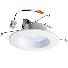 5 inch and 6 inch White Integrated LED Recessed Downlight Trim with Selectable Colour Temperature