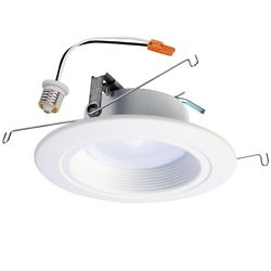Halo 5 inch and 6 inch White Integrated LED Recessed Downlight Trim with Selectable Colour Temperature