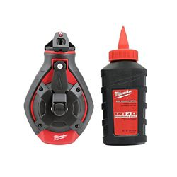 Milwaukee Tool 100-ft Bold Line Chalk Reel Kit with Red Chalk