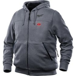 Milwaukee Tool Men's Large M12 12-Volt Lithium-Ion Cordless Gray Heated Hoodie (Tool Only)
