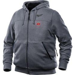 Milwaukee Tool Sweat à capuche moyen M12 12V sans fil au lithium-ion gris chauffant pour homme (veste seulement)