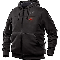Milwaukee Tool Men's Large M12 12V Lithium-Ion Cordless Black Heated Hoodie (Jacket Only)
