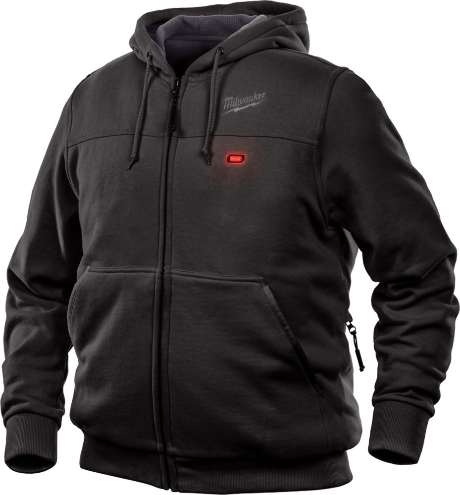 Milwaukee Tool Men's Large M12 12-Volt Lithium-Ion Cordless Black Heated Hoodie (Tool Only)