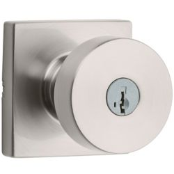 Weiser Cambie Keyed Entry Knob in Satin Nickel