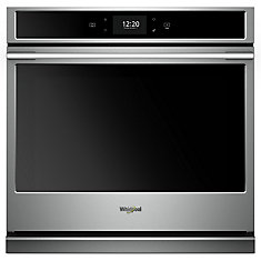 5.0 cu. ft. Smart Single Electric Wall Oven with True Convection Cooking in Stainless Steel