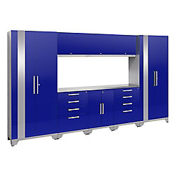 NewAge Products Inc. Performance 2.0 Storage Cabinets in Blue (9-Piece Set)