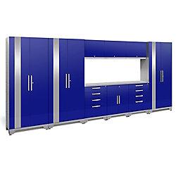 NewAge Products Inc. Performance 2.0 Blue Garage Cabinet Set (10-Piece)