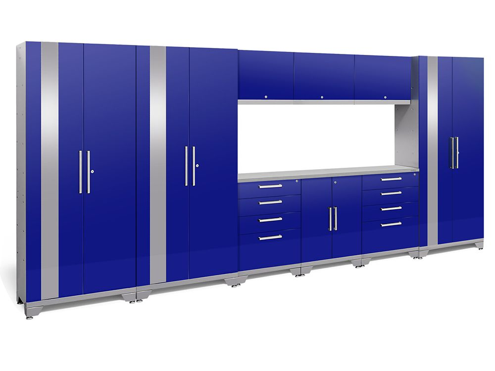 NewAge Products Performance 2.0 Blue Garage Cabinet Set (10-Piece)