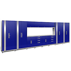 NewAge Products Inc. Performance 2.0 Blue Garage Cabinet Set (14-Piece)