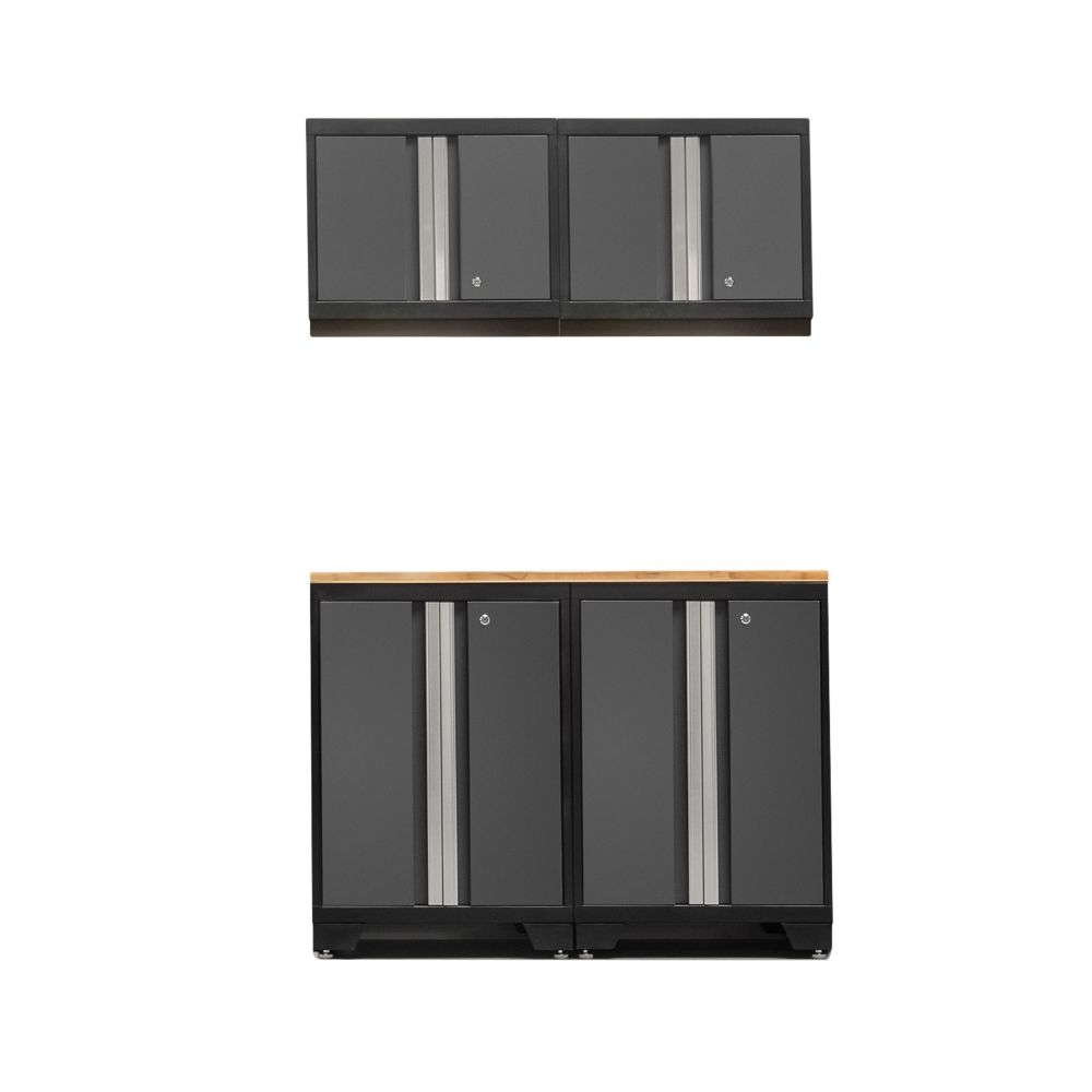 NewAge Products Bold 3.0 Grey Garage Cabinet Set (5-Piece)