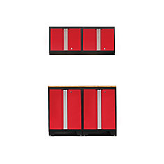Bold 3.0 Red Garage Cabinet Set (5-Piece)