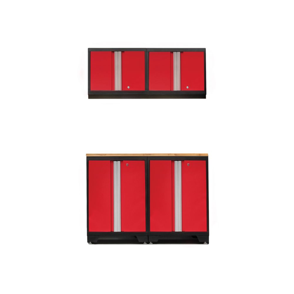 NewAge Products Bold 3.0 Red Garage Cabinet Set (5-Piece)