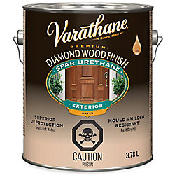Varathane Premium Diamond Wood Finish For Outdoor, Oil-Based In Satin Clear, 3.78 L