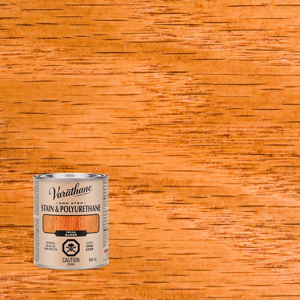Varathane Floor Finish Applicator: Varathane Varathane Stain & Polyurethane Gloss Pecan 946ml