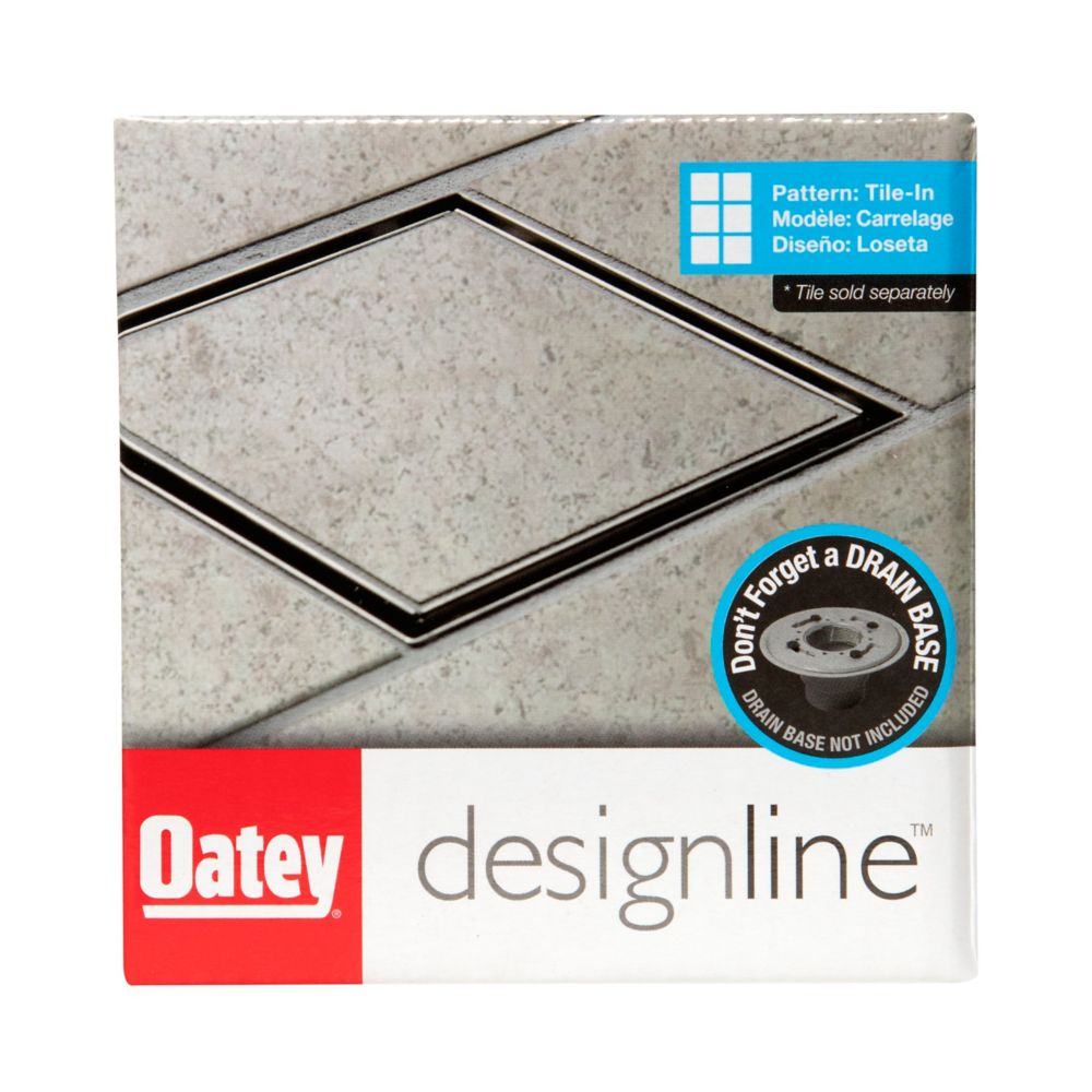 4 X 4 Square Drain Tile-In Grate