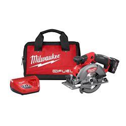 Milwaukee Tool M12 FUEL Kit de scie circulaire sans fil au lithium-ion sans fil M12 FUEL 12V avec batterie 4.0Ah et sac de 4.0Ah