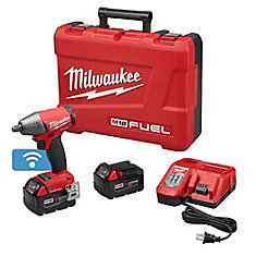 M18 FUEL ONE-KEY 18-Volt Lithium-Ion Brushless Cordless 1/2-inch Impact Wrench w/ (2) 5.0Ah Batteries
