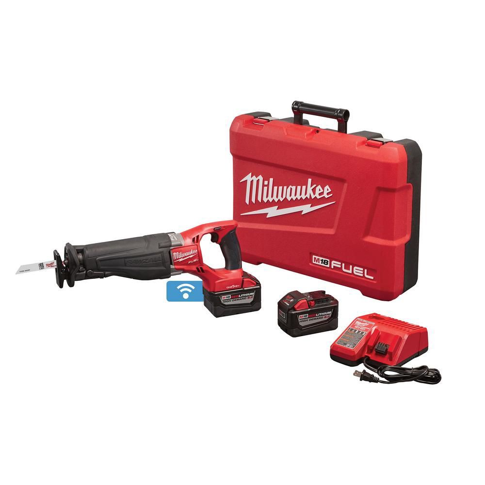Milwaukee Tool M18 FUEL ONEKEY 18V Li-Ion Brushless Cordless SAWZALL Reciprocating Saw Kit W/(2)9.0Ah Batteries