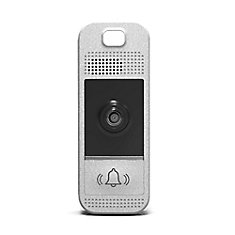 Wifi-Enabled Video Doorbell in Bright Silver