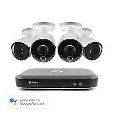 8 Channel 5MP 2TB DVR Security System with 4 Outdoor Thermal-Sensing Bullet Security Cameras