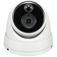 5MP Outdoor True Detect Thermal-Sensing Dome Security Camera - White