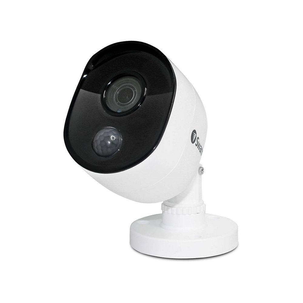 Caméra de sécurité extérieure 1080p à détection thermique True Detect de type «bullet»  - Blanc