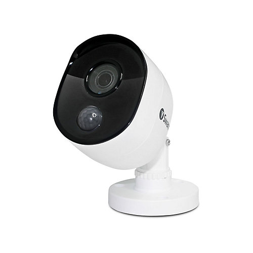 1080p Outdoor True Detect Thermal-Sensing Bullet Security Camera - White