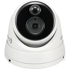1080p Outdoor True Detect Thermal-Sensing Dome Security Camera - White