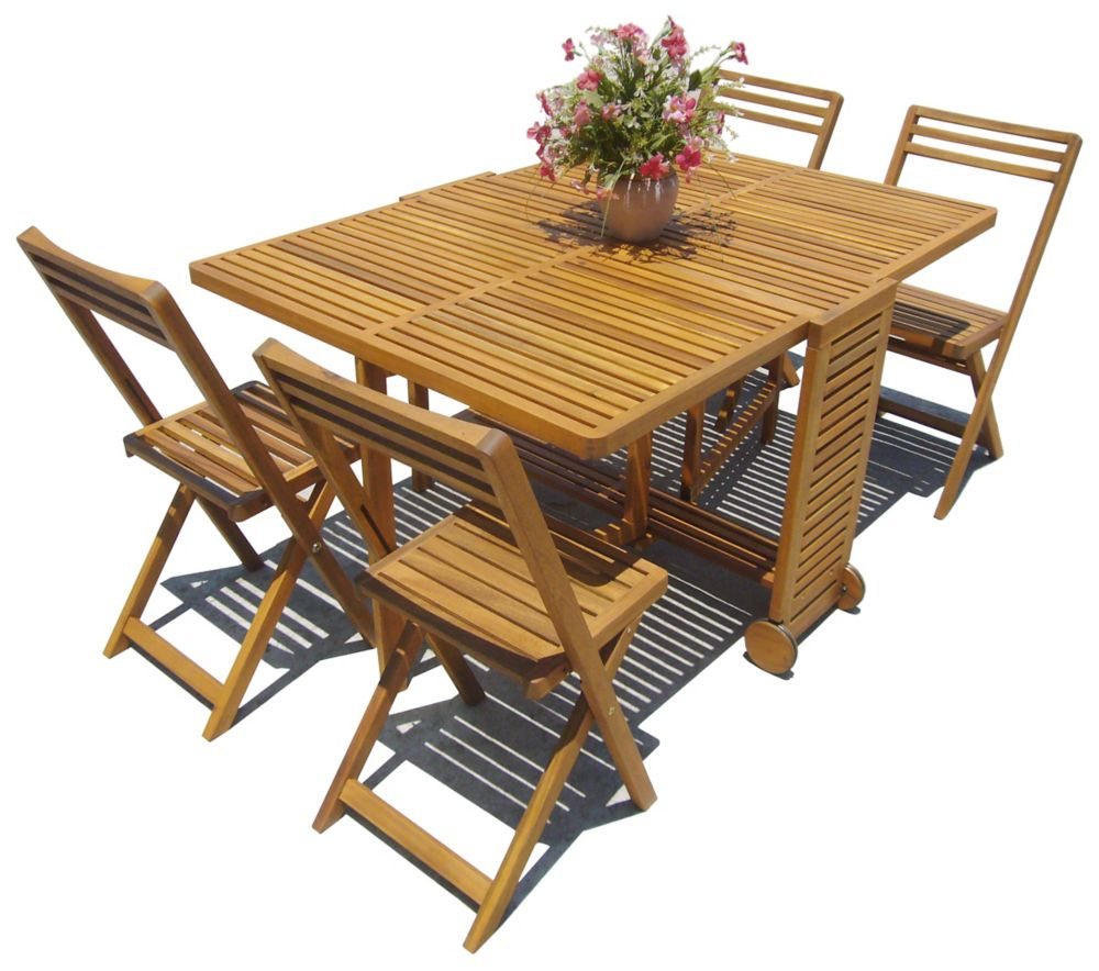 5 Pc Butterfly Dining Set