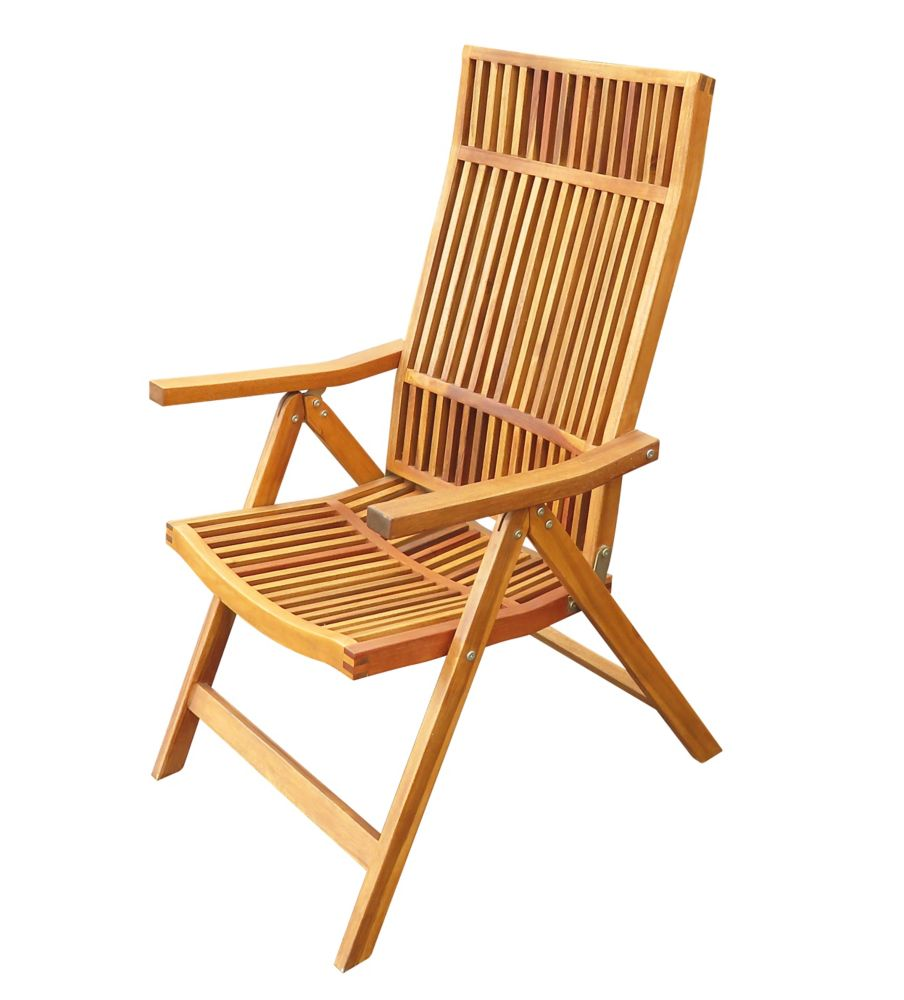5-Position Folding Deck Chair