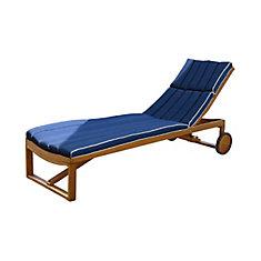 Coussin Pour Chaise Longue Bleu Marine