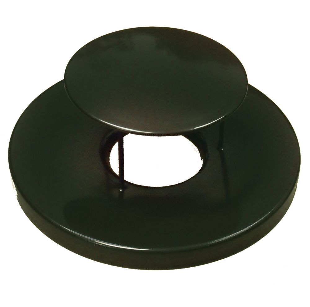 Paris Black Steel Lid with Rain Guard Dome
