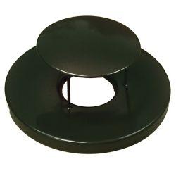Paris Black Steel Lid with Rain Guard Dome