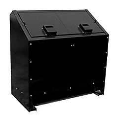 68 Gal. Metal Animal Proof Trash Can in Black