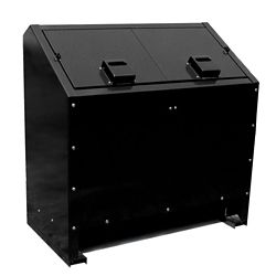 Paris 68 Gal. Metal Animal Proof Trash Can in Black