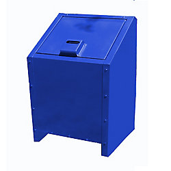 Paris 34 Gal. Metal Animal Proof Trash Can in Blue