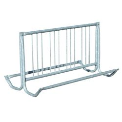 Paris 64 inch Silver Galvanized Traditional Bicycle Rack