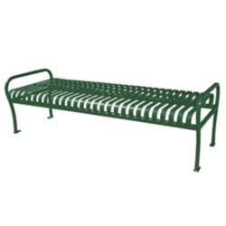 Paris 6 ft. Green Premier Backless Bench