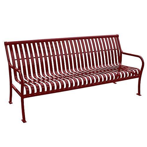 Banc Premier 6 pieds, rouge