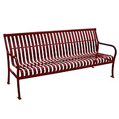 6 ft. Red Premier Bench